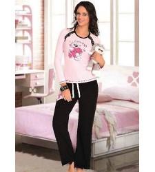 Ayıcık Baskılı Bayan Pijama Takım