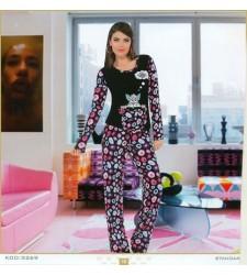 Kedili Bayan Pijama Takımı