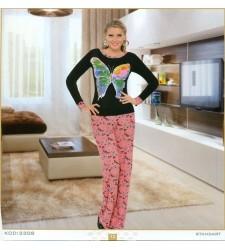Bayan Kelebekli Pijama Takım